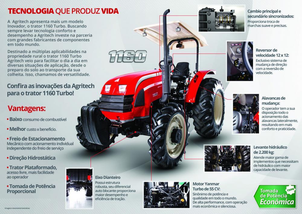 Yanmar Agritech - Agritech 1160 Turbo 4x4 - Silva Tratores - Ituporanga - SC